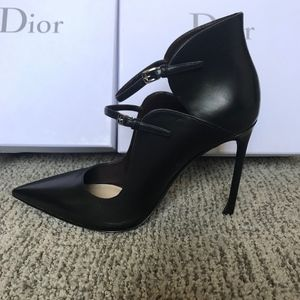 Christian Dior Petale Pointed-Toe Buckle  Pump